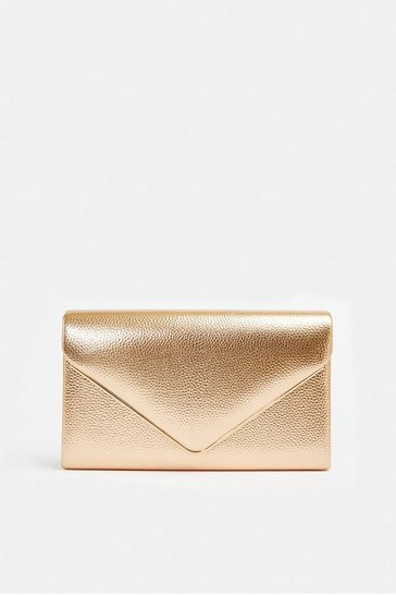 Rose gold Metallic Envelope Bag