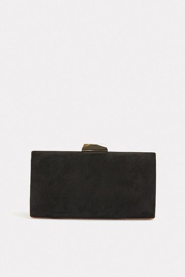 Black Gold Bar Clasp Bag