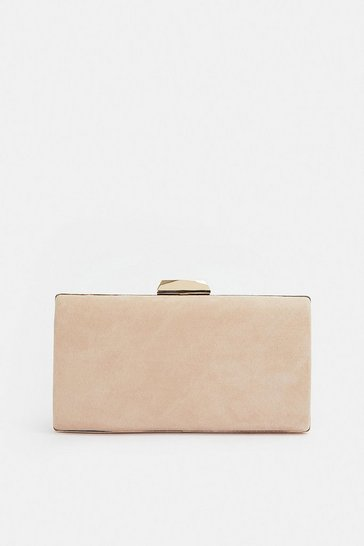 Nude Gold Bar Clasp Bag