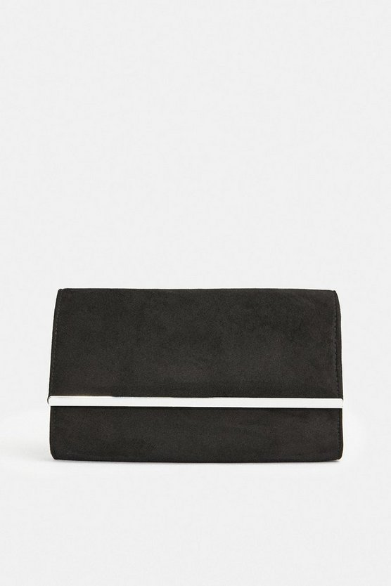 Black Gold Bar Clutch Bag