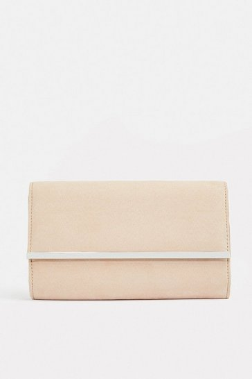 Blush Gold Bar Clutch Bag