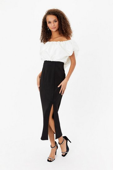 Blackwhite  Bardot Maxi Dress