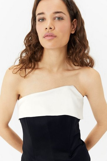 Black Monochrome Bodice Top