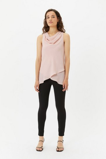 Womens Blush Layered Sleeveless Top