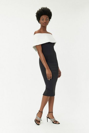 Black Curve - Scuba Bardot Dress