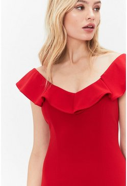Red Curve Kora Ruffle Dress