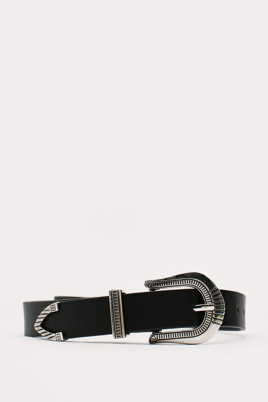 Vintage Wide Belts, Cinch Belts, Skinny 50s Belts Womens Faux Leather Retro Engraved Western Belt - Black - One Size $17.00 AT vintagedancer.com