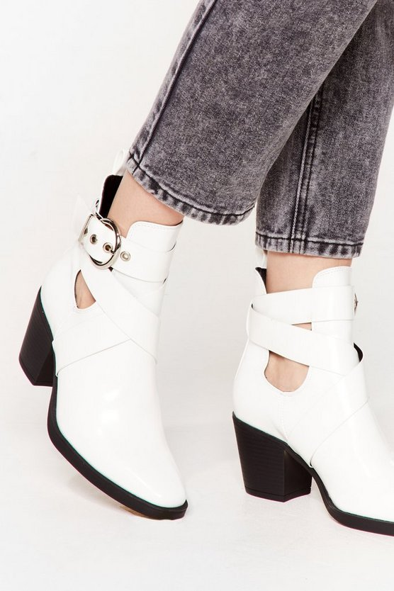 Do We Cross Your Mind Cut-Out Heeled Boots