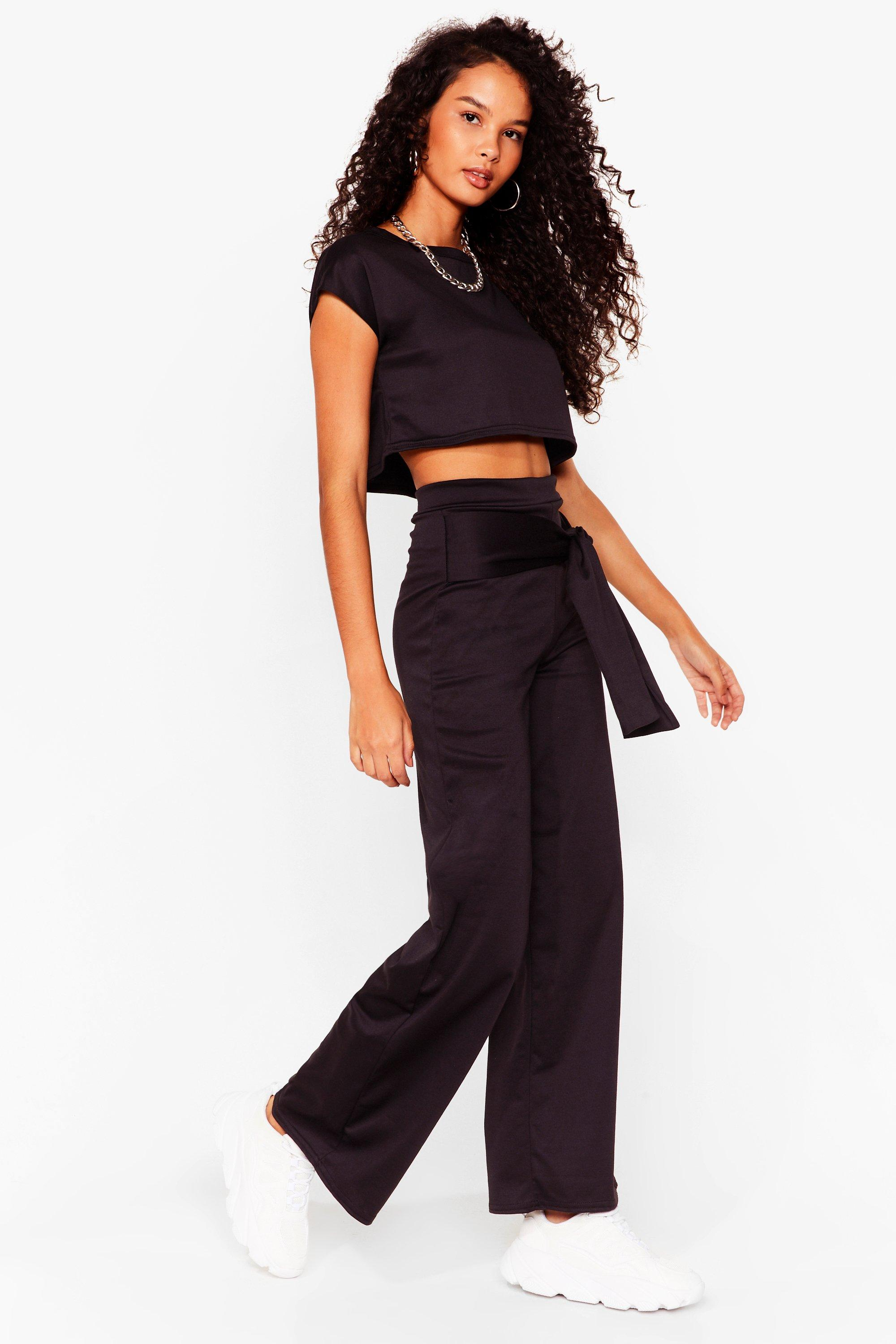 Ensemble t-shirt court \u0026 pantalon large