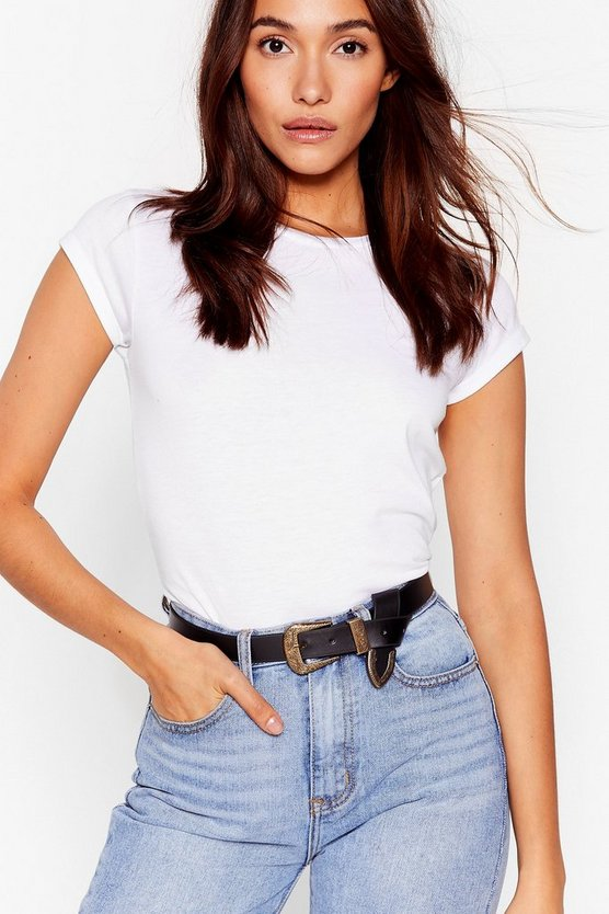 Don't Waist My Time Faux Leather Western Belt