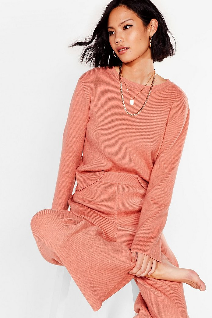 Plans Cancelled Knitted Sweater And Pants Set Nasty Gal