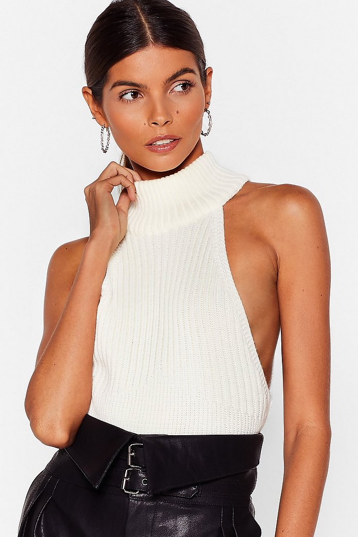 The Racer is On Ribbed Knitted Top | Nasty Gal