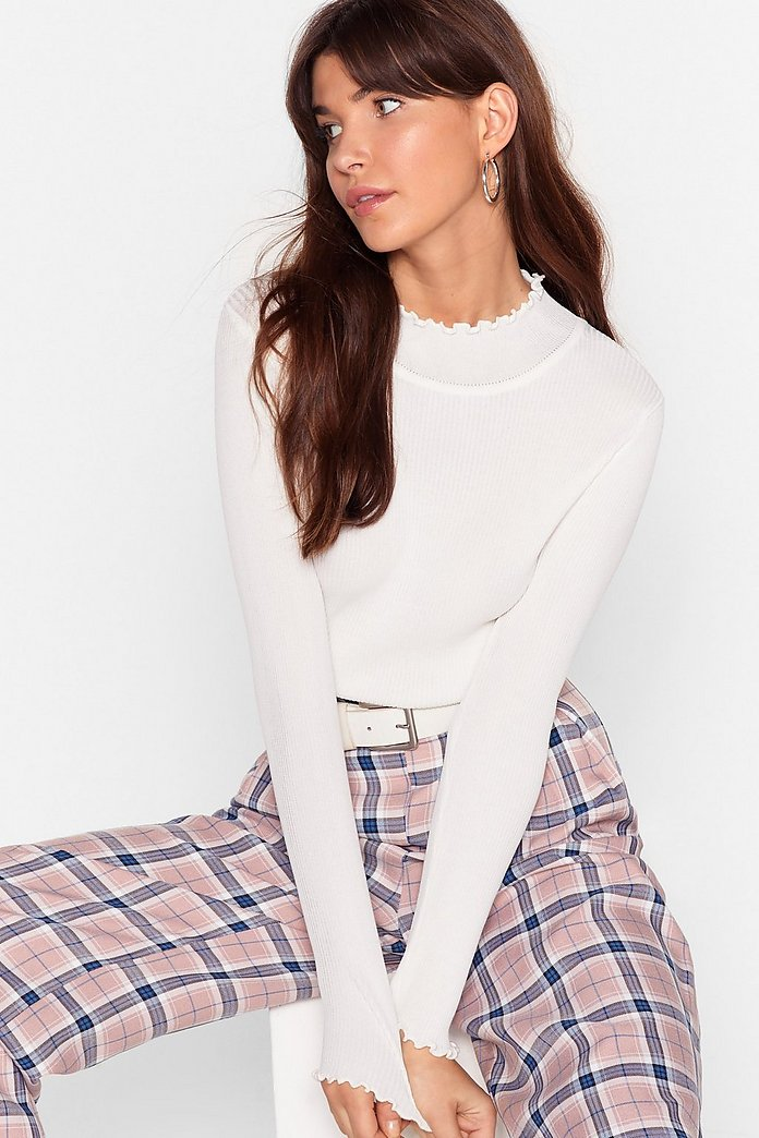 You've Got the Edge Ribbed Knit Top | Nasty Gal