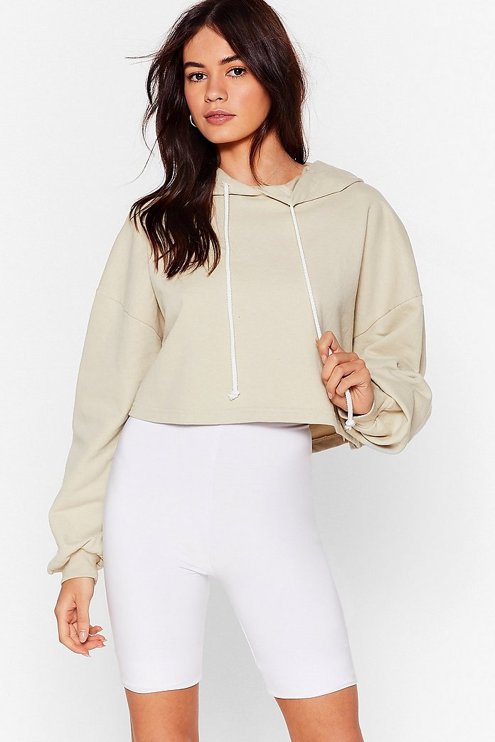 Ease the Day Oversized Cropped Hoodie | Nasty Gal