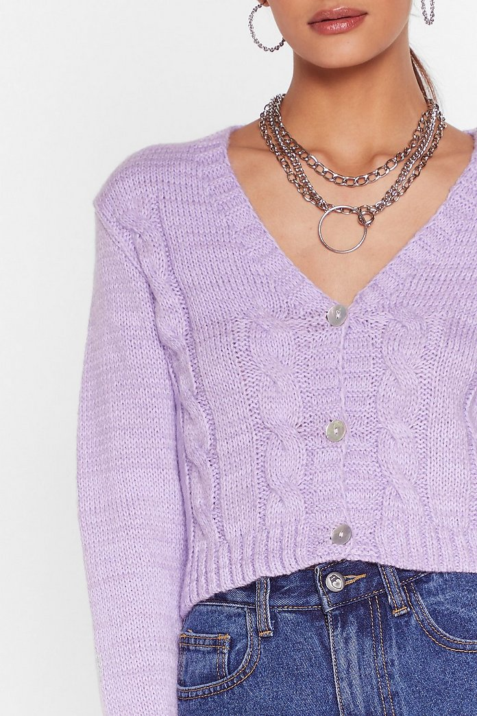 Take Knit As Knit Comes Cropped Cardigan | Nasty Gal