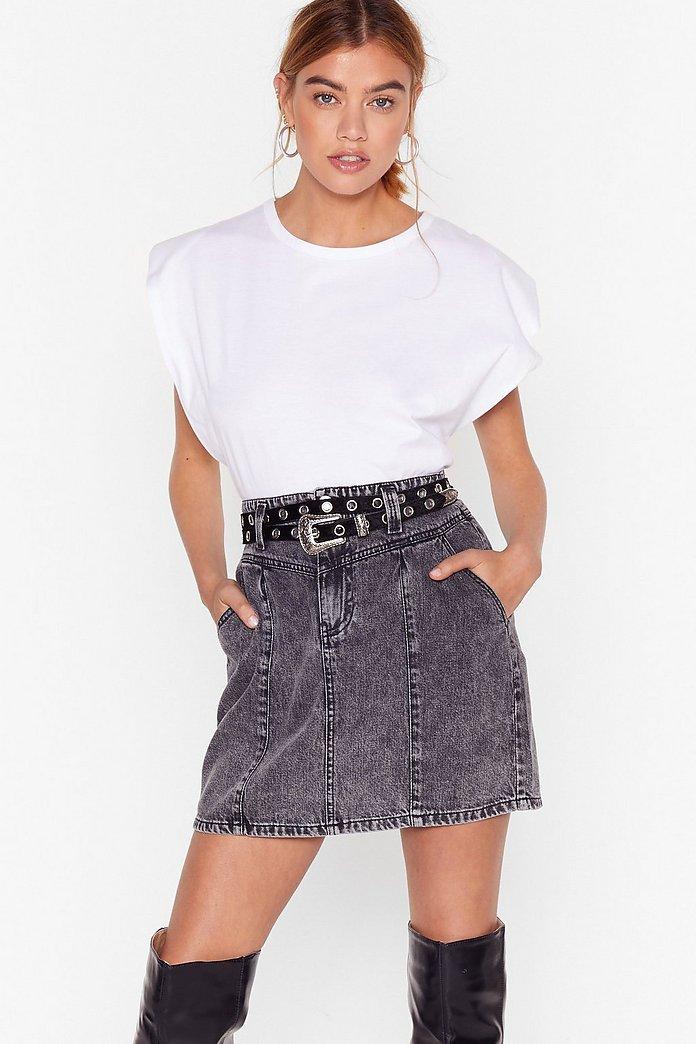 dirt cheap 50% price official shop Seam Better Denim Mini Skirt | Nasty Gal