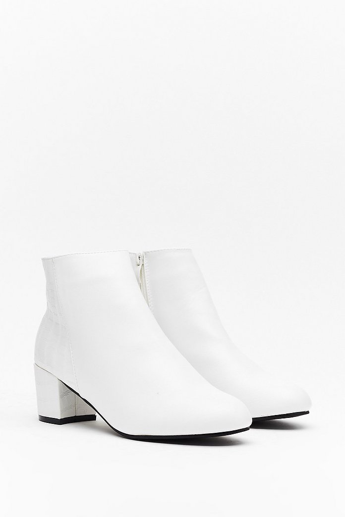 Croc to My System Faux Leather Ankle Boots | Shop Clothes at Nasty Gal!