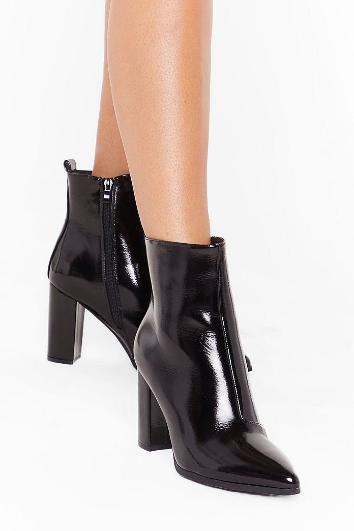 Heeled Ankle Boots Black