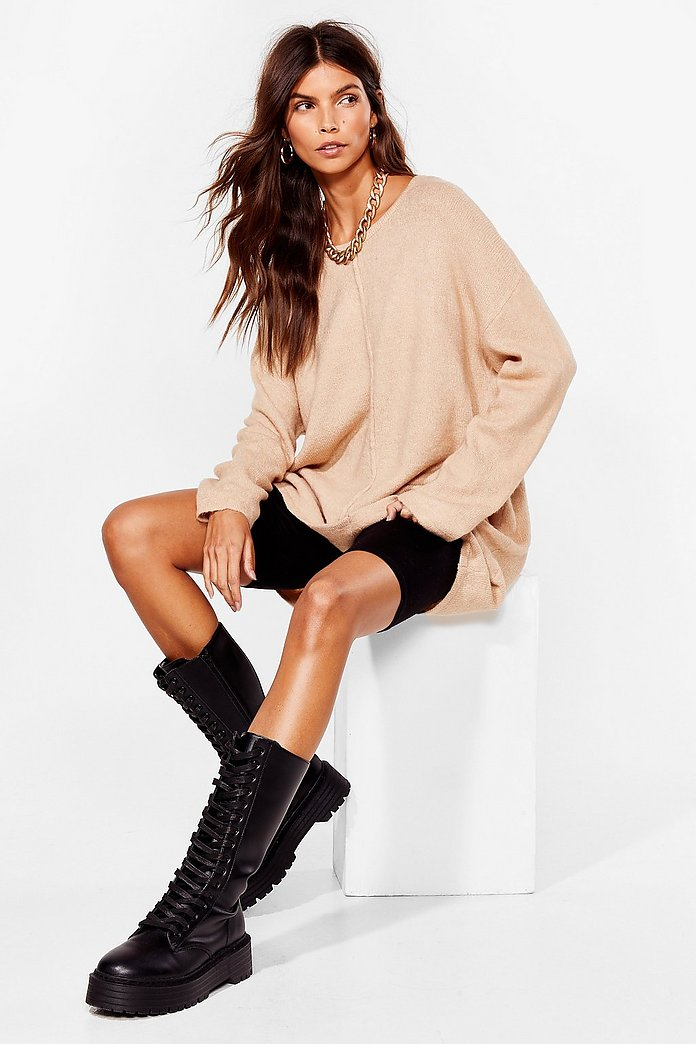 NASTYYGAL – PULL MAILLE BEIGE