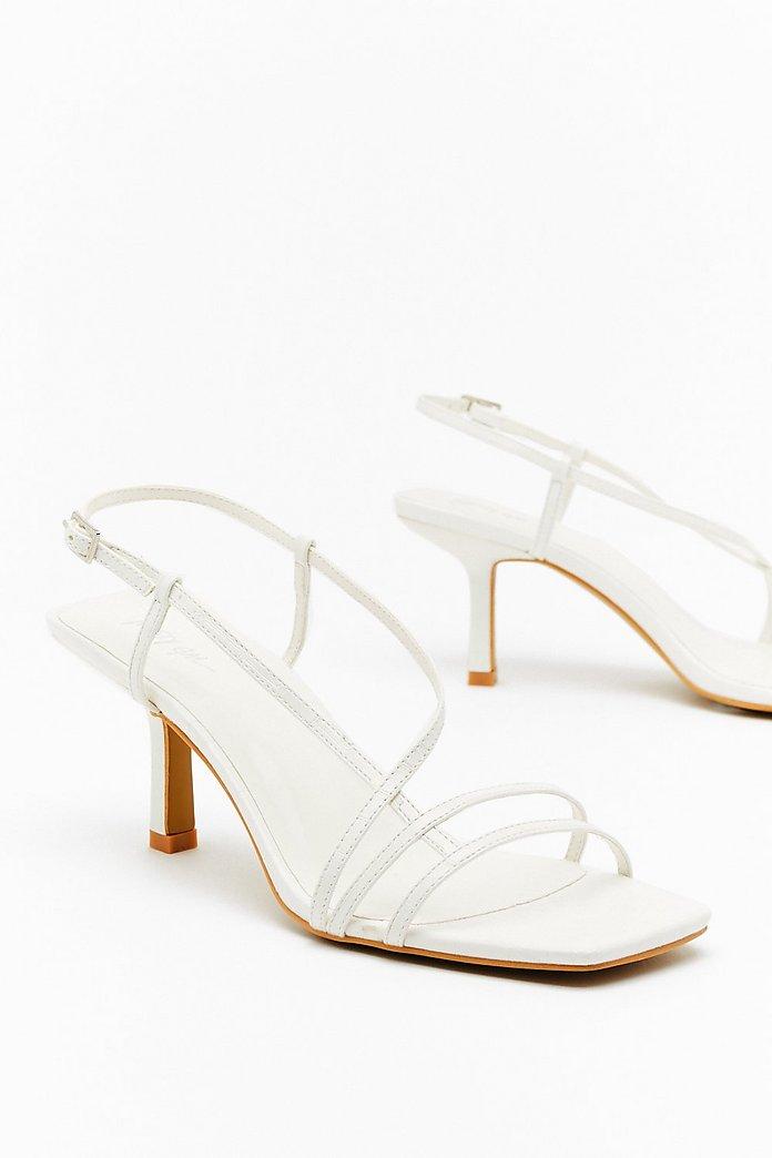 White Kitten Heels