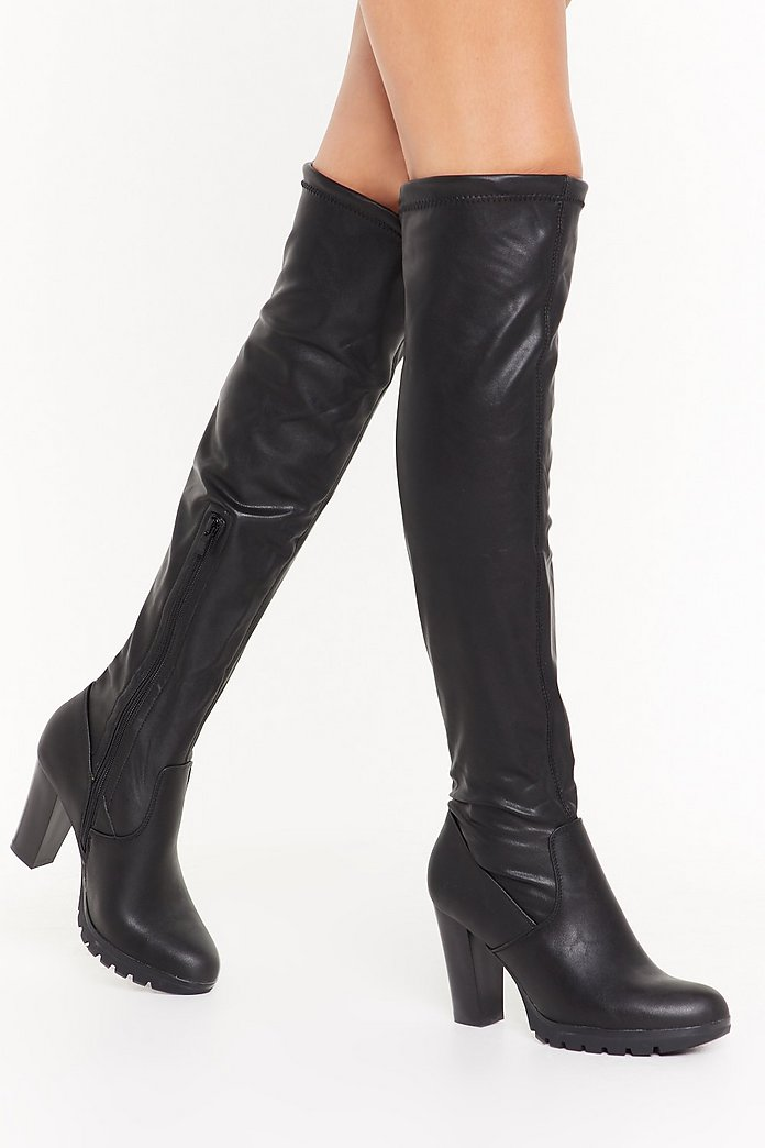 Leather Boots Over The Knee