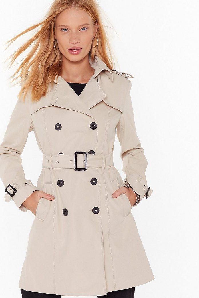 low priced 5ea54 ef3a3 Take Cover Double Breasted Trench Coat | Shop Clothes at Nasty Gal!