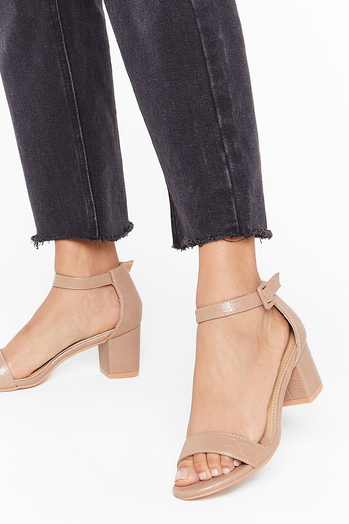 Gimme the Low Down Faux Leather Kitten Heels | Nasty Gal