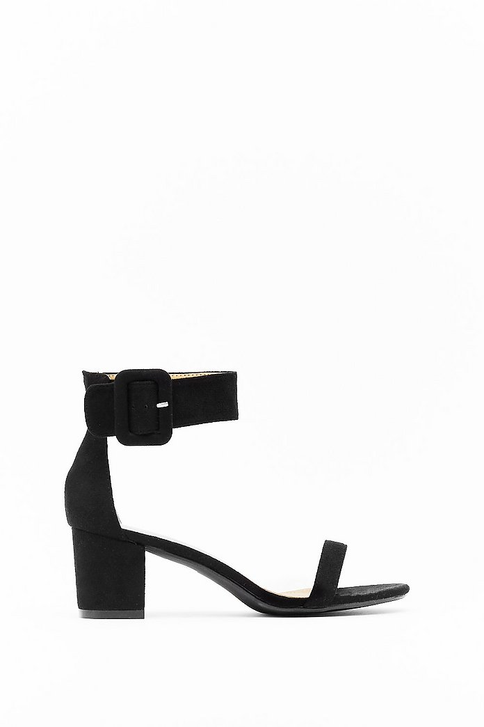 Hi There Faux Suede Low Block Heels | Nasty Gal