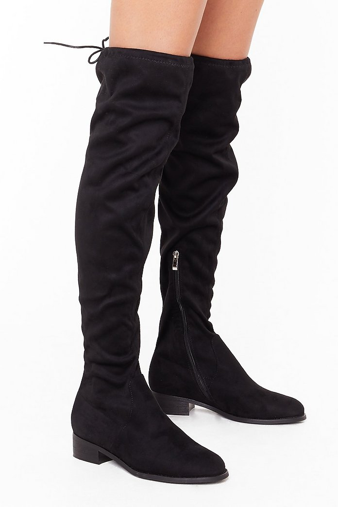 Wide Fit Thigh High Boot | Nasty Gal
