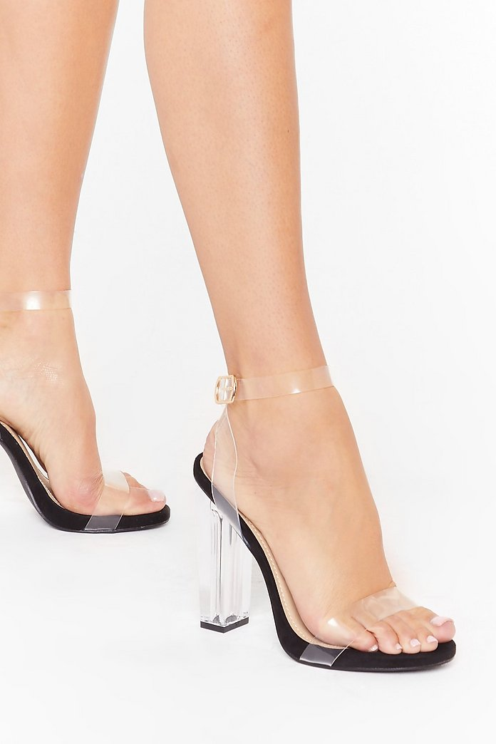 Let's Be Clear Wide Fit Clear Heels | Nasty Gal