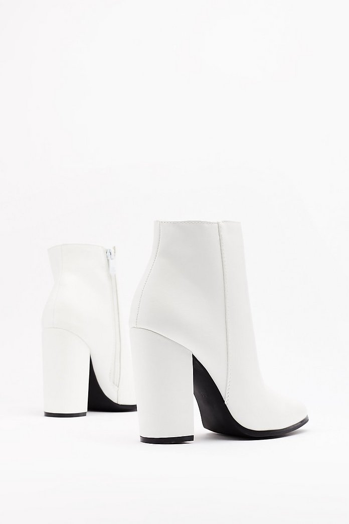 Black And White Ankle Boots