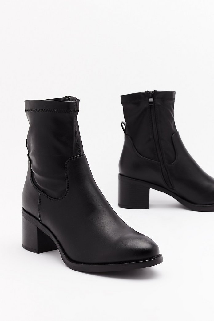 Sock It Together Faux Leather Boots | Shop Clothes at Nasty Gal!