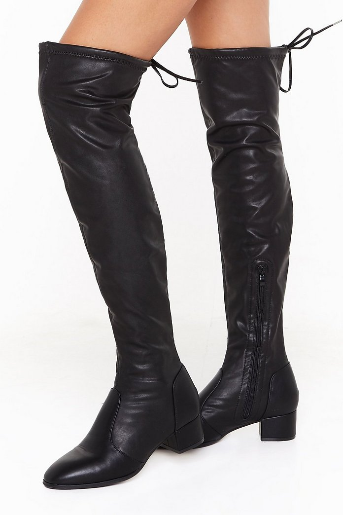 shoes, thigh high boots, knee high boots, boots, over the