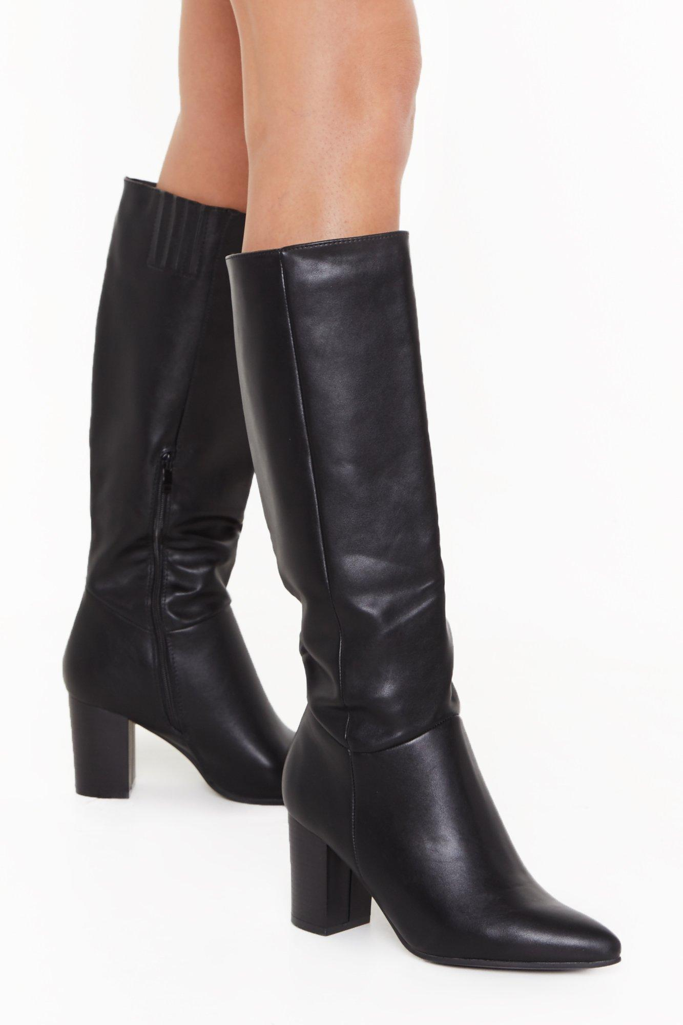 Stay Groovy Heeled Knee-High Boots