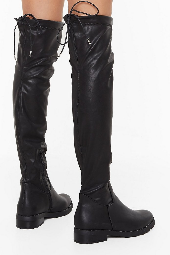 And Don't Knee Know It Faux Leather Boots | Shop Clothes at Nasty Gal!