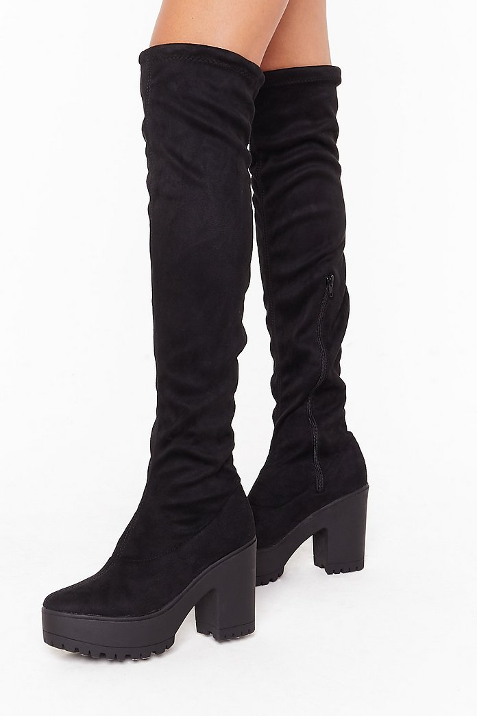 Suede Me Love Faux Suede Over the Knee Boots | Nasty Gal