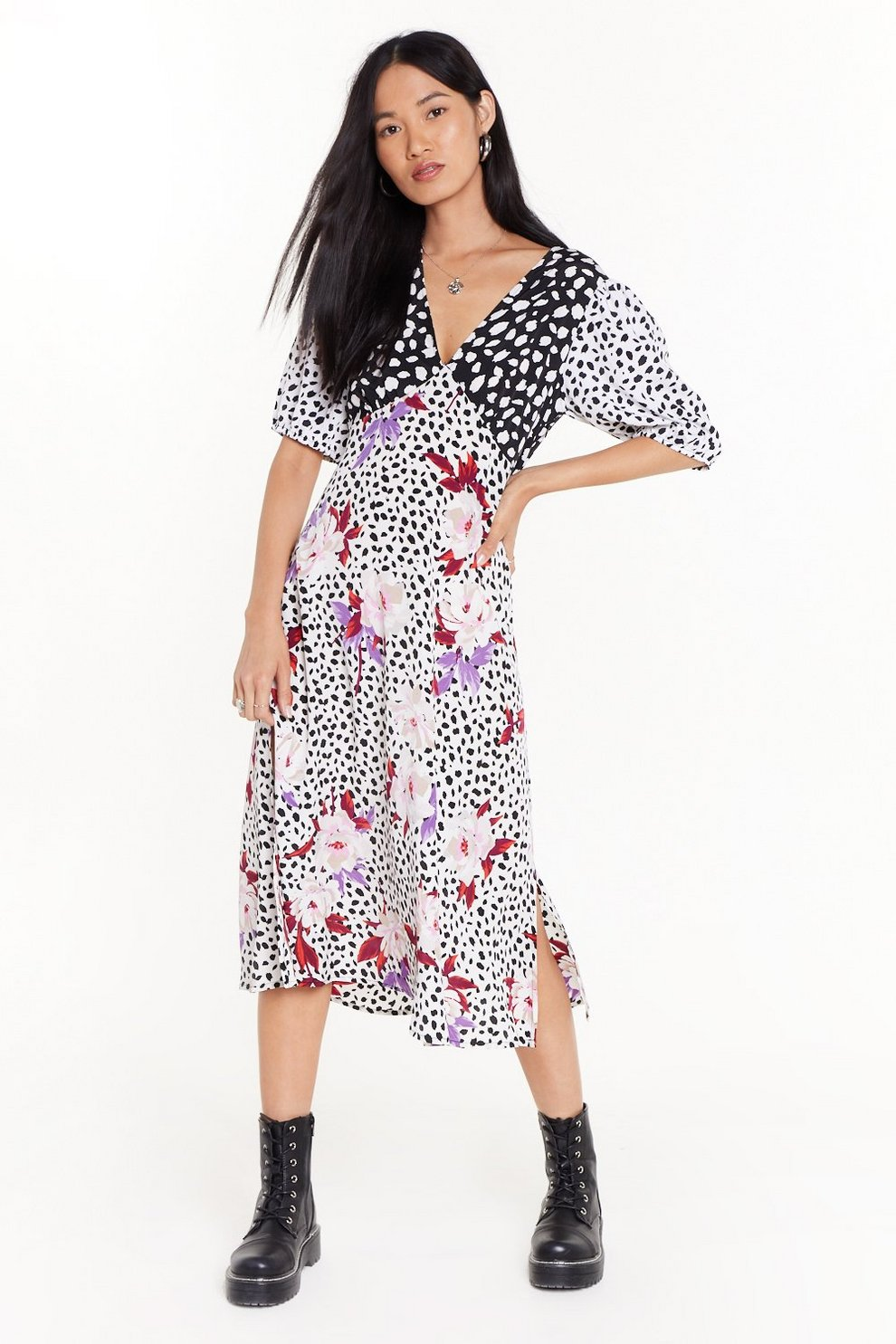 bda375cdcdf8a Dot Growlin' Anywhere Animal Midi Dress