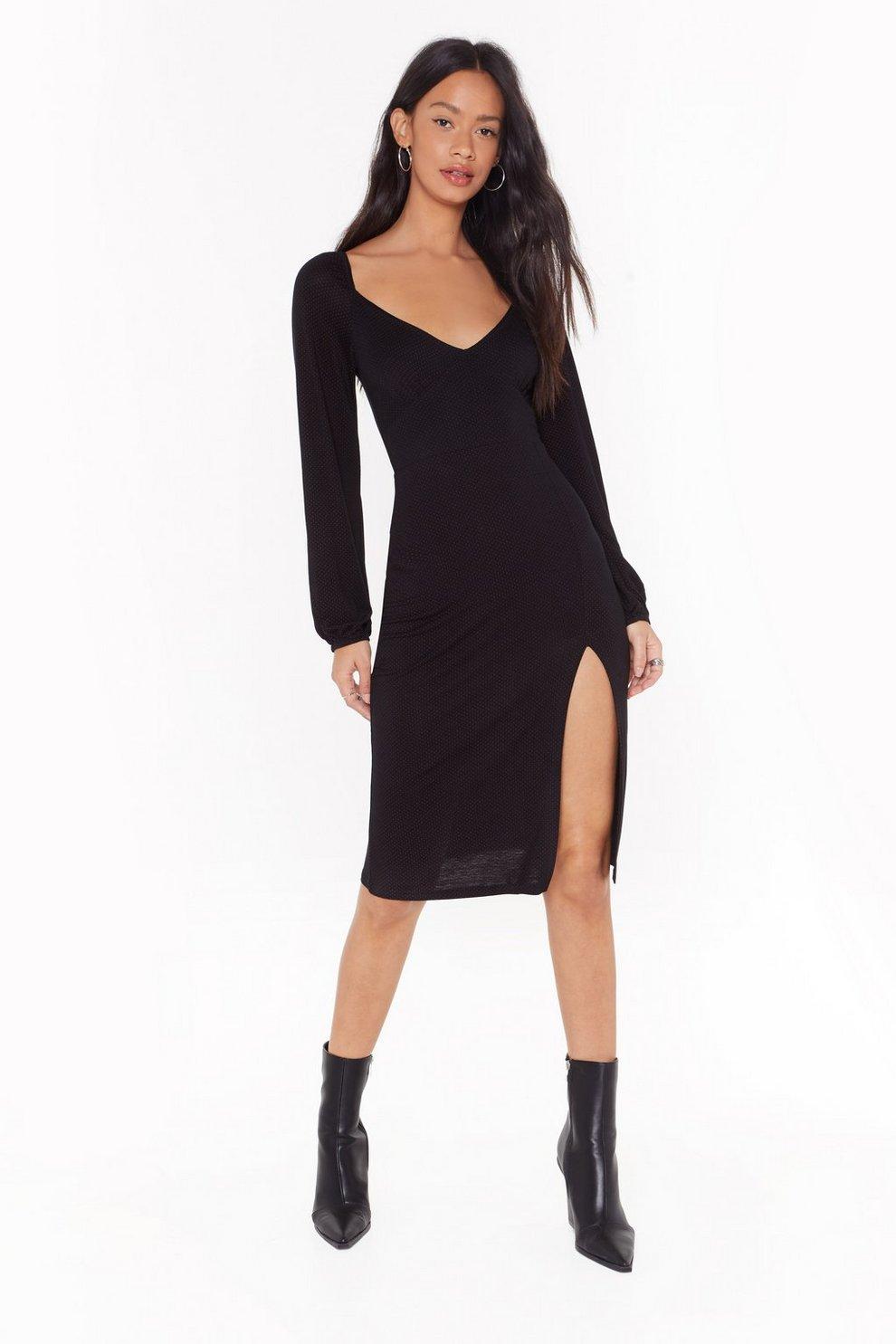 0f083998458f7 Livin' for the Spotlight Polka Dot Midi Dress