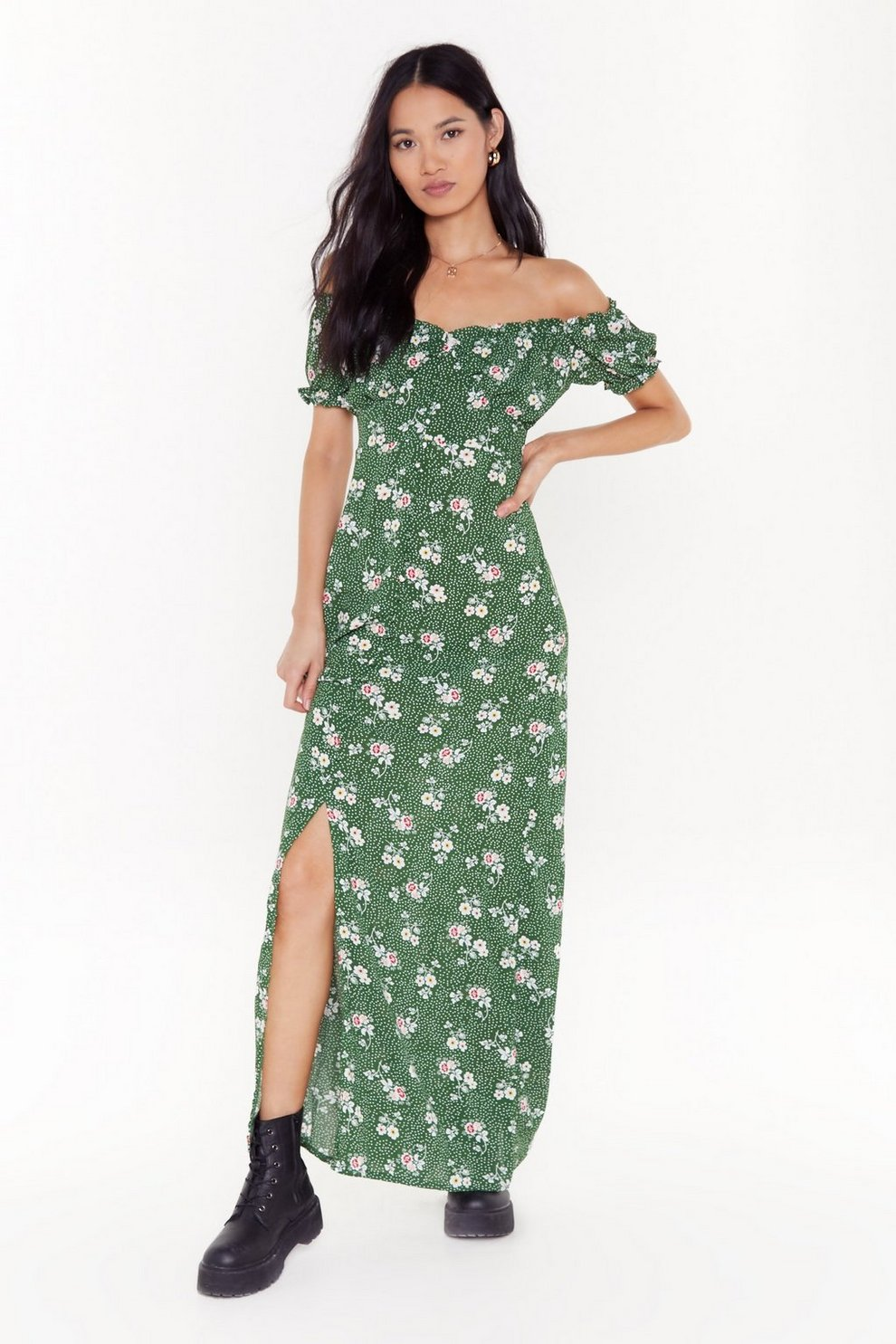 68a22627193a8 Flower Lips are Sealed Floral Maxi Dress