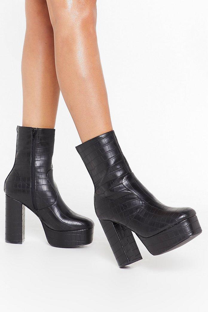 Platform Booties Heels