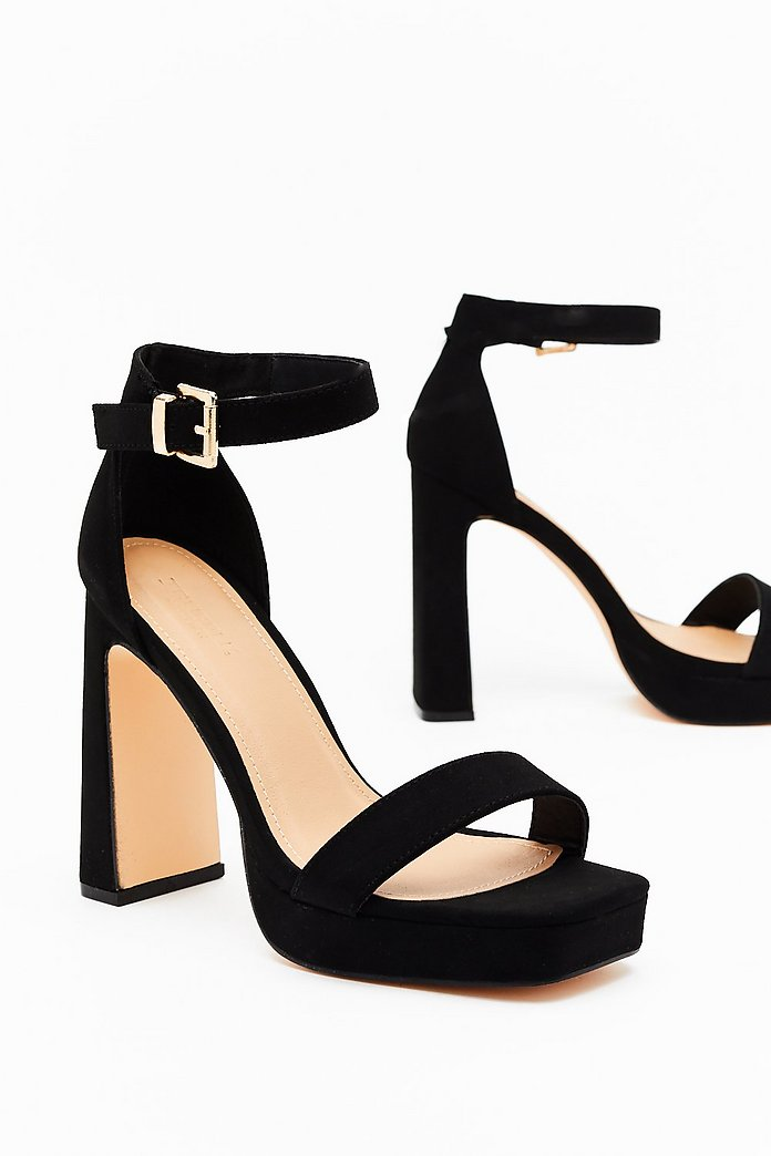 Flyin' High Faux Suede Block Heels | Nasty Gal