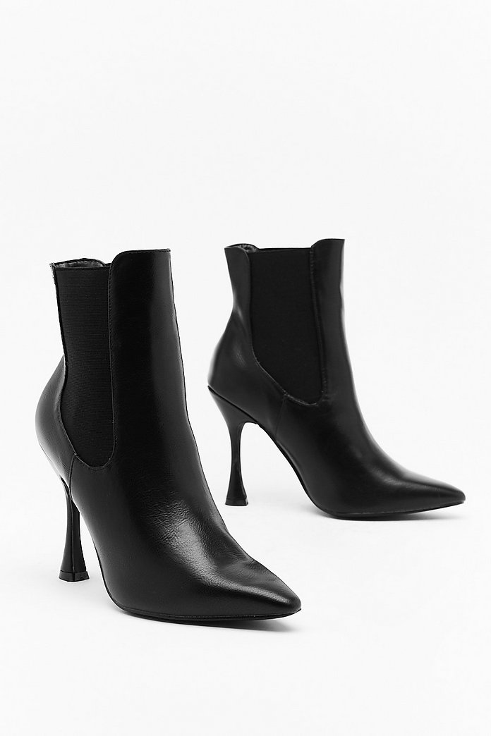 new styles c1e6a 666ce Point Made Faux Leather Stiletto Boots | Shop Clothes at Nasty Gal!
