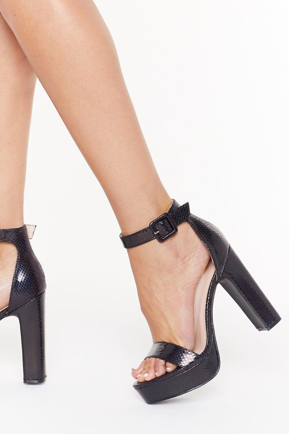 4ba29ceb30 Snake You Stand Out Faux Leather Platform Heels | Shop Clothes at Nasty Gal!