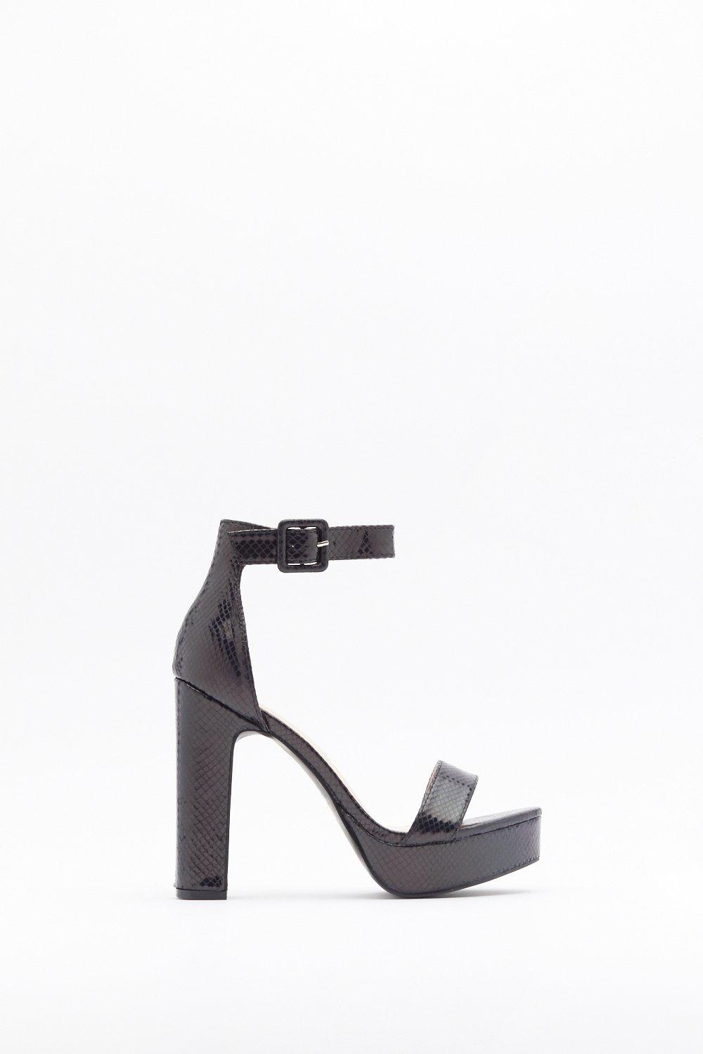 eb096929f5 Snake You Stand Out Faux Leather Platform Heels | Shop Clothes at ...