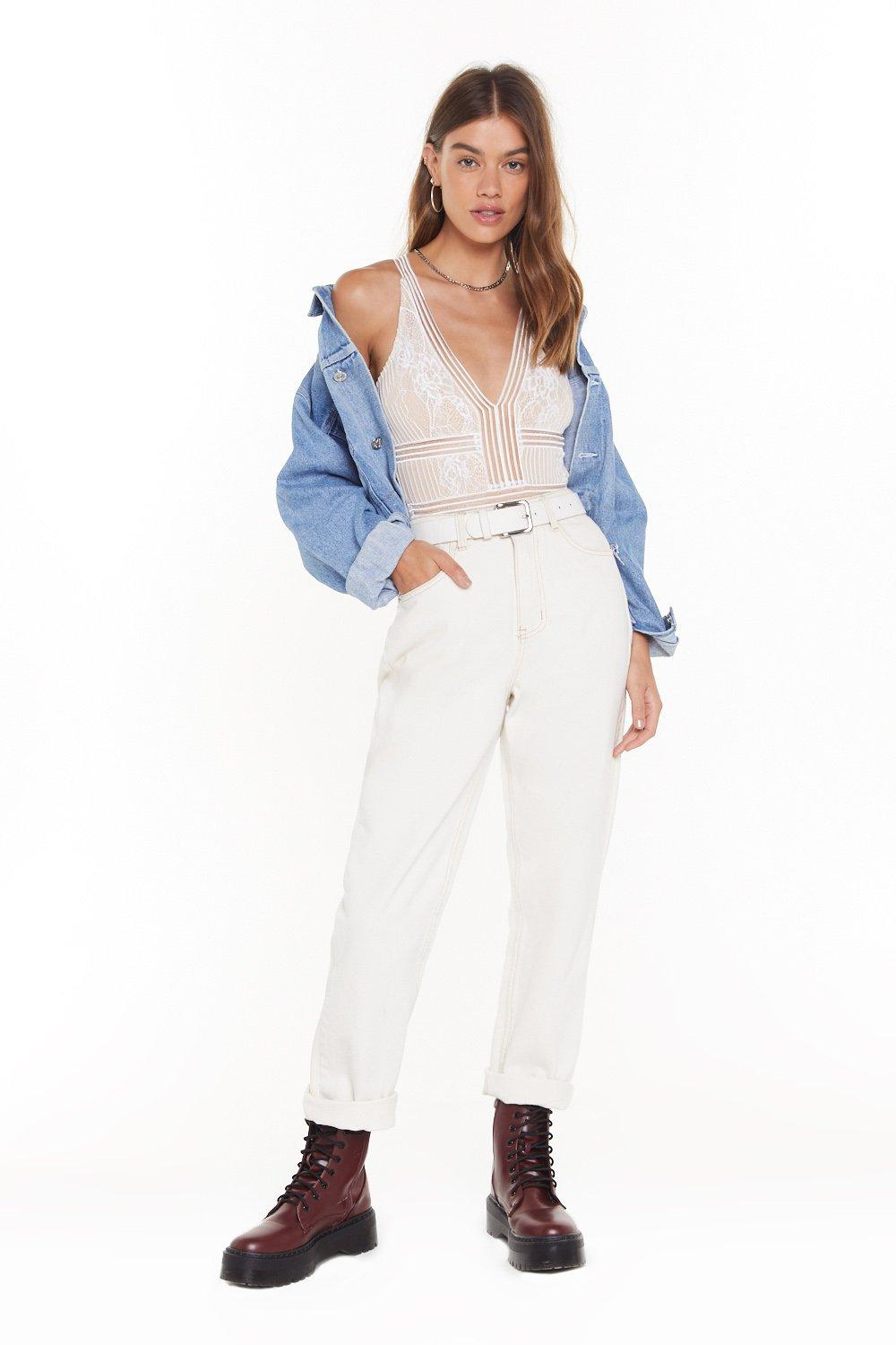 Love On the Brain Lace Bodysuit   Shop Clothes at Nasty Gal!