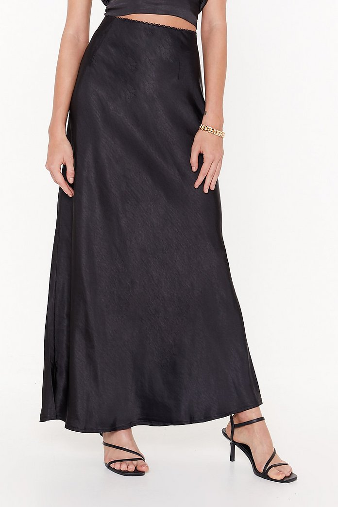 on sale online undefeated x fresh styles Bias Cut and Run Satin Maxi Skirt | Shop Clothes at Nasty Gal!