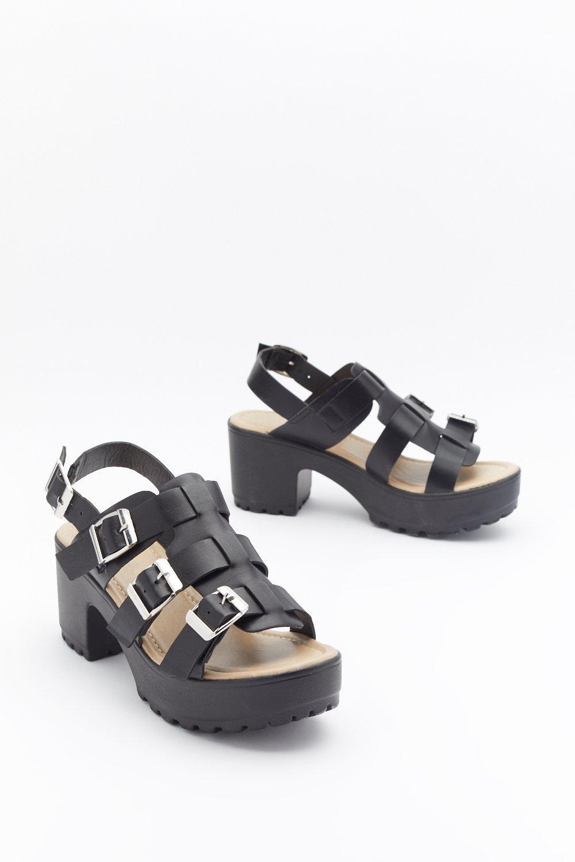 Semelle Ouverte Sandale Boucles Et Sandales Ouvertes À Épaisse 1JlFKTuc35