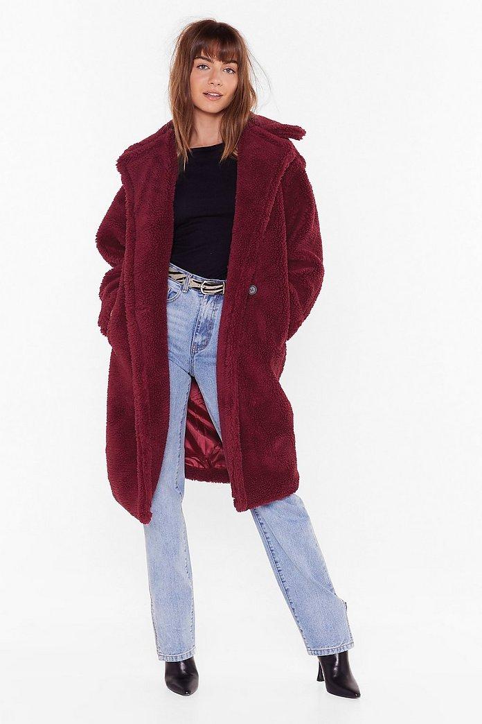 Winter Time Love Faux Fur Coat