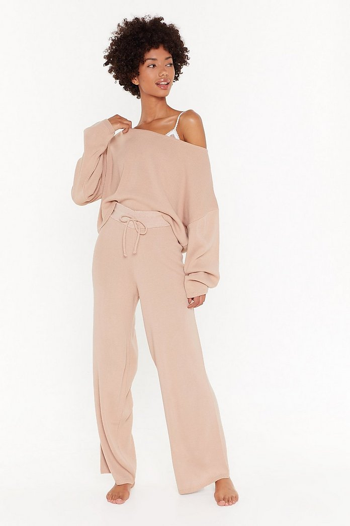 purchase cheap cheapest sale choose latest Sleep It Off Jumper and Wide-leg Trousers Lounge Set | Shop Clothes at  Nasty Gal!