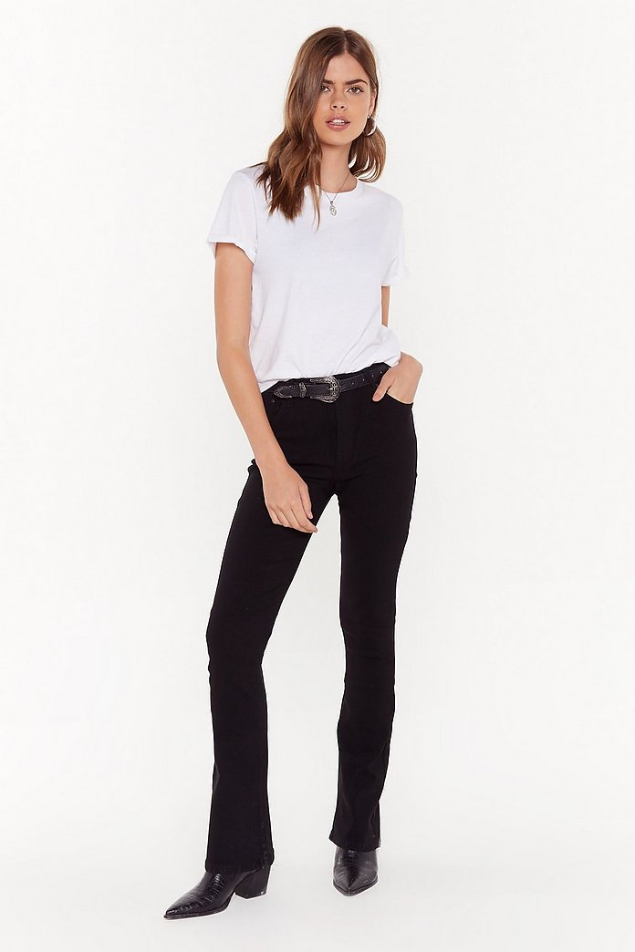 best sneakers fcef7 13d41 Donna High-Waisted Flare Jeans | Shop Clothes at Nasty Gal!